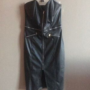 Dresses & Skirts - Faux leather dress